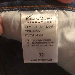 "Kan Can Jeans - KAN CAN ""Mid-Waist, Button Fly"" JEANS"